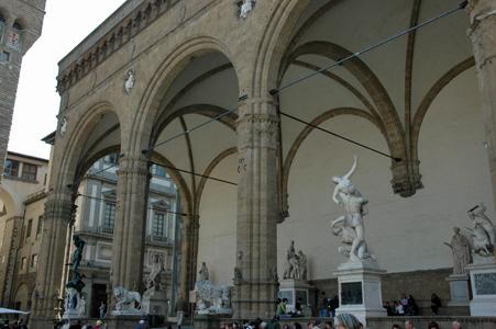 Florenz Loggia Dei Lanza Eine Offene Bogenhalle